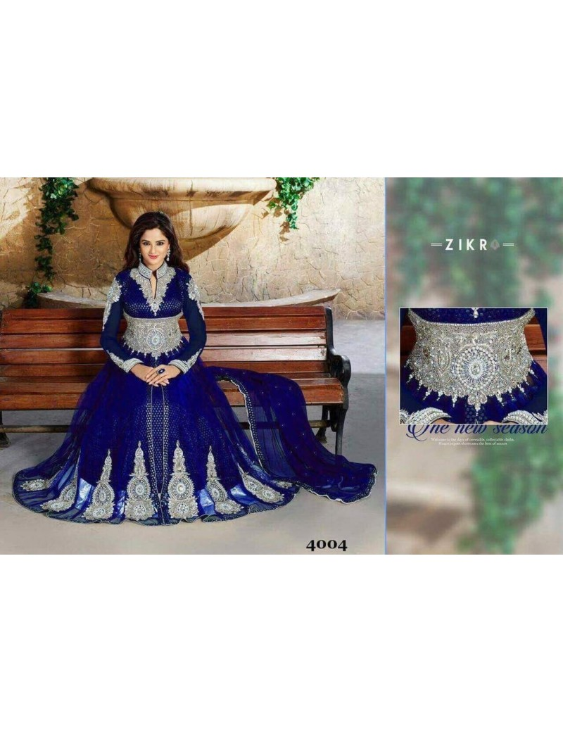 tenue indienne ZINA  4004 Bleue roi