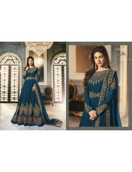 Robe indienne bleue