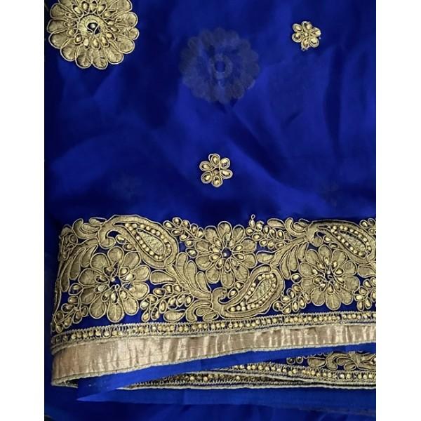 Sari bleu roi 921