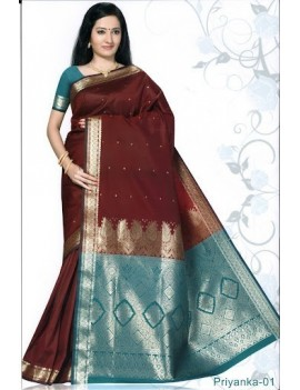 Sari traditionnel priyanka silk 01