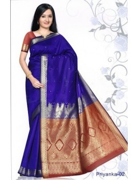 Sari traditionnel priyanka silk 02
