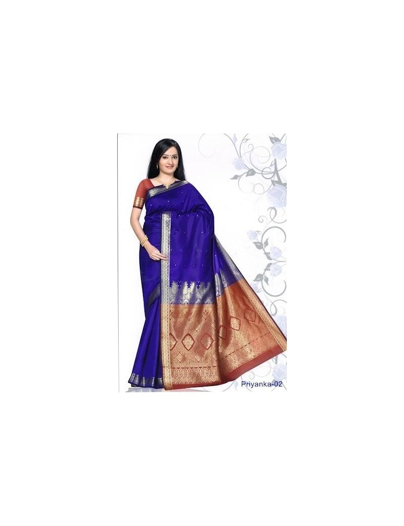 Sari traditionnel priyanka silk 02