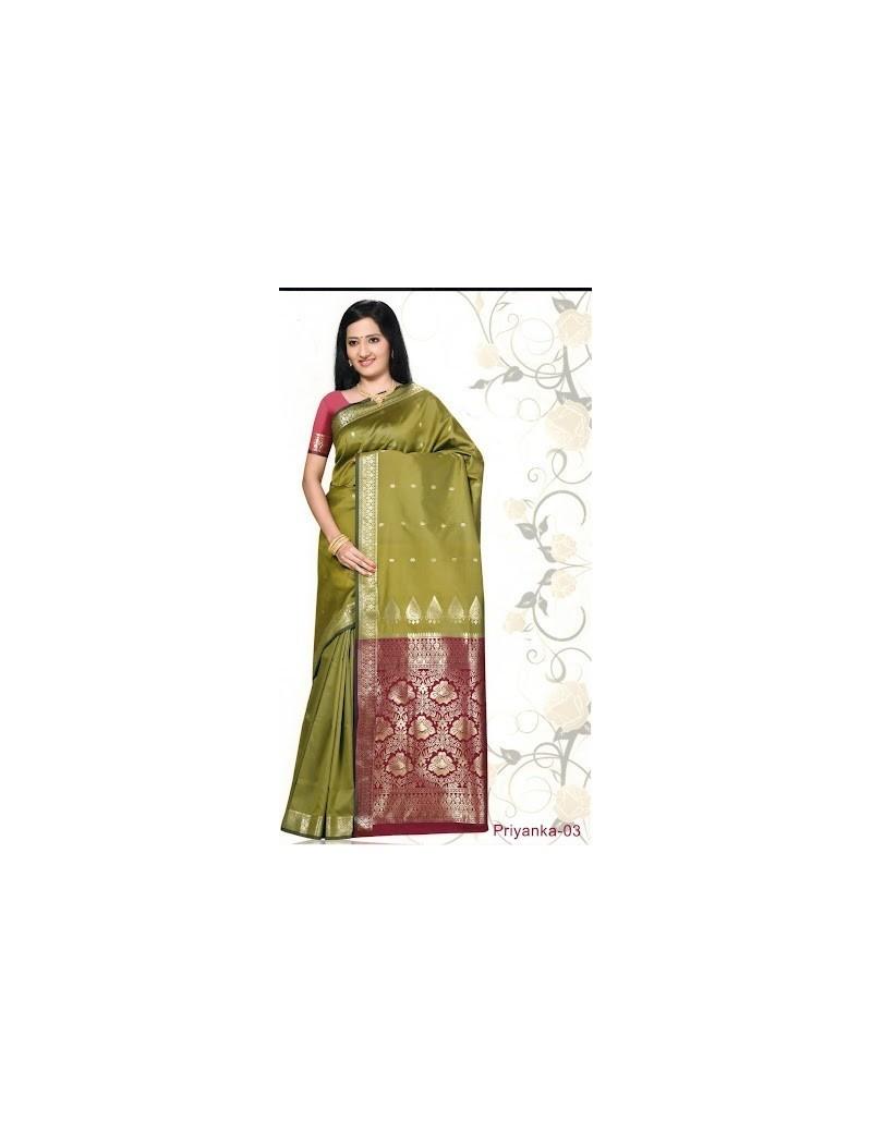 Sari traditionnel priyanka silk 03