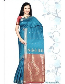 Sari traditionnel priyanka silk 04