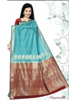 Sari traditionnel priyanka silk 05