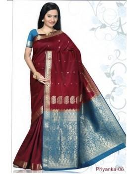 Sari traditionnel priyanka silk 06