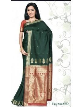 Sari traditionnel priyanka silk 07