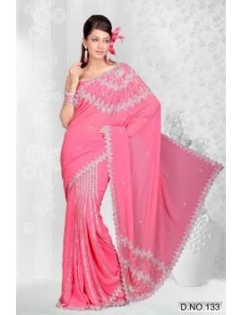 sari rose prêt à porter haut de gamme