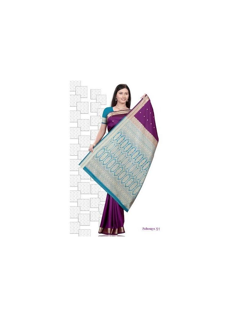 Sari traditionnel sawaariya silk s51
