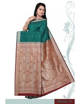 Sari traditionnel sawaariya silk s54