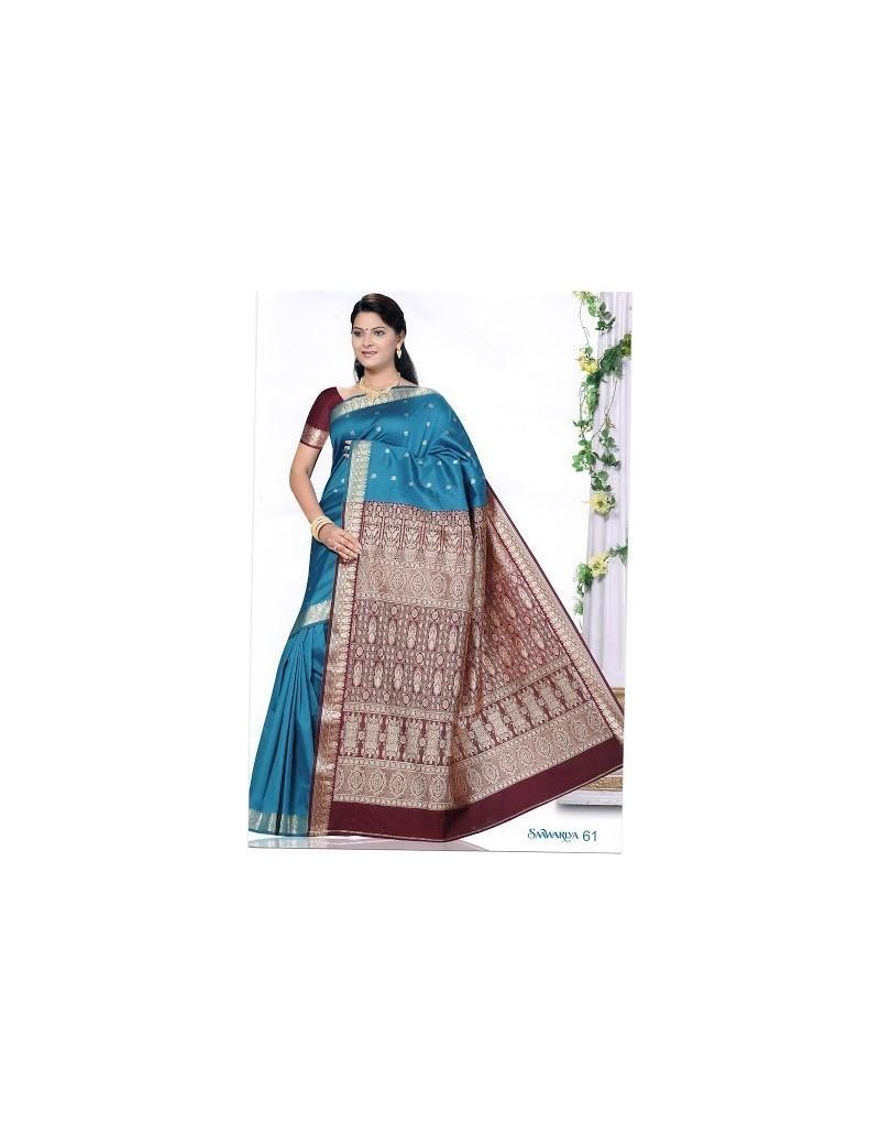 Sari traditionnel sawaariya silk s61