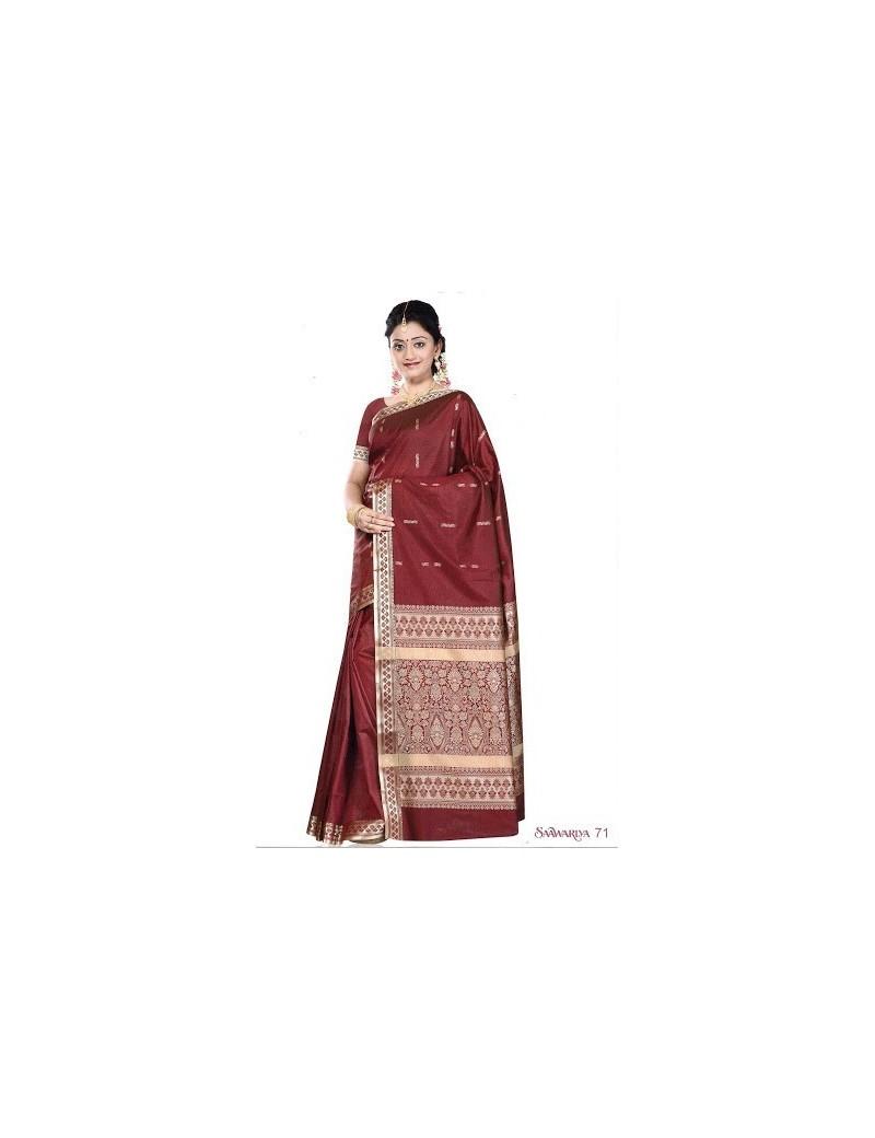 Sari traditionnel sawaariya  silk 71