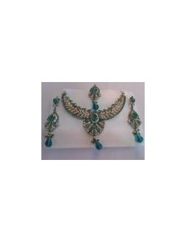 parure bollywood turquoise