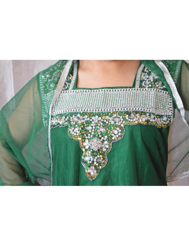 Salwar Kameez vert - TAILLE 36