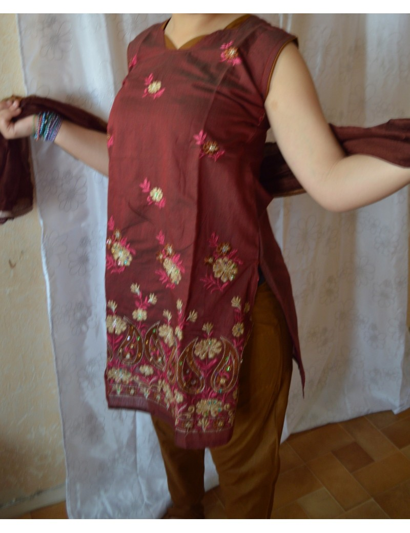 Churidhar rouge taille 36