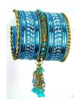 Designer Bracelets BLEU  - diamètre: 6 cm