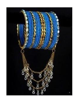 Designer Bracelets BLEU 2  - diamètre: 6 cm
