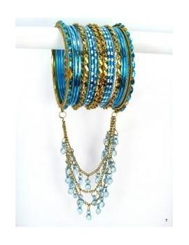 Designer Bracelets BLEU 3  - diamètre: 6 cm