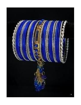 Designer Bracelets BLEU 5  - diamètre: 6 cm