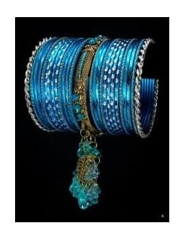 Designer Bracelets BLEU 6  - diamètre: 6 cm
