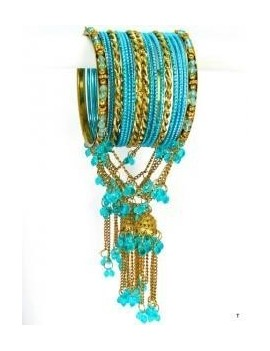 Designer Bracelets BLEU 7  - diamètre: 6 cm