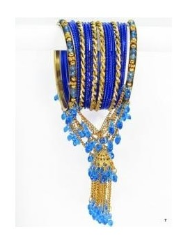 Designer Bracelets BLEU 8  - diamètre: 6 cm