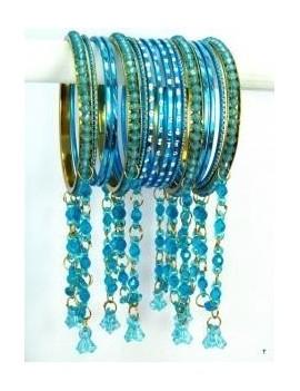 Designer Bracelets BLEU 10  - diamètre: 6 cm