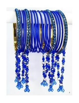 Designer Bracelets BLEU 11  - diamètre: 6 cm