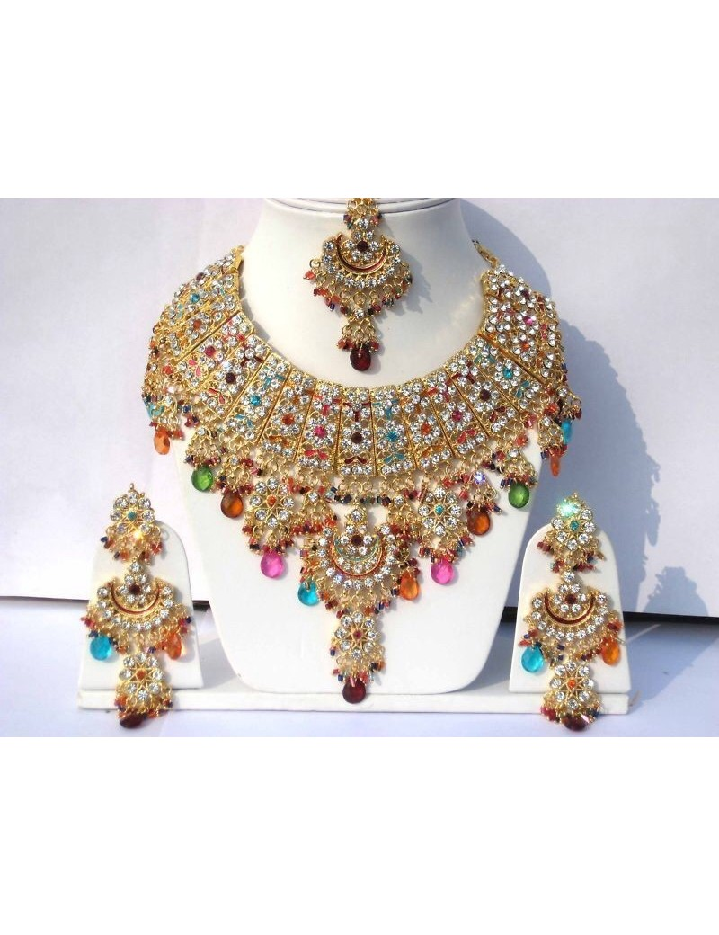 Parure indienne bollywood - jodha akbar - multicouleur
