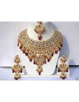 Parure indienne bollywood - jodha akbar - rouge
