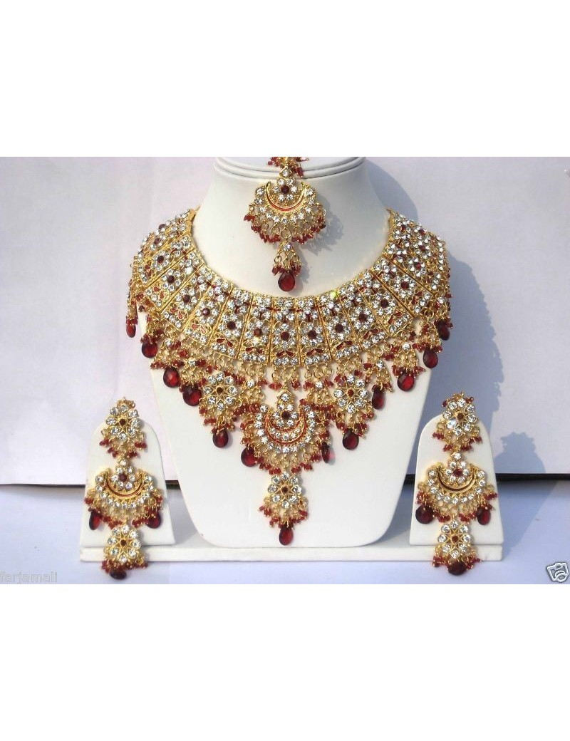 Parure indienne bollywood - jodha akbar - rouge