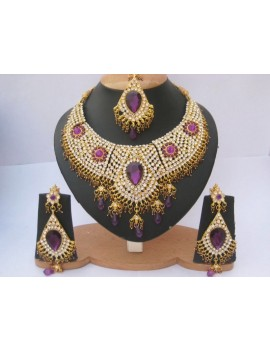 Parure indienne bollywood - violet
