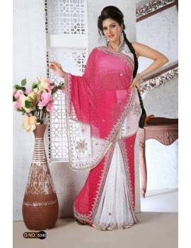 sari haut de gamme avec plis - 5340